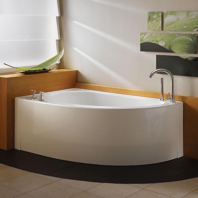 NEPTUNE WIND 60x36 CONTEMPORARY CORNER BATH TUB SOAKER NO WHIRLPOOL EBay