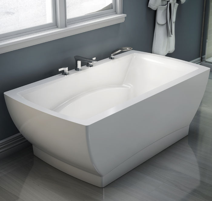 Believe freestanding 3666 baths produits neptune for Deep built in bathtubs